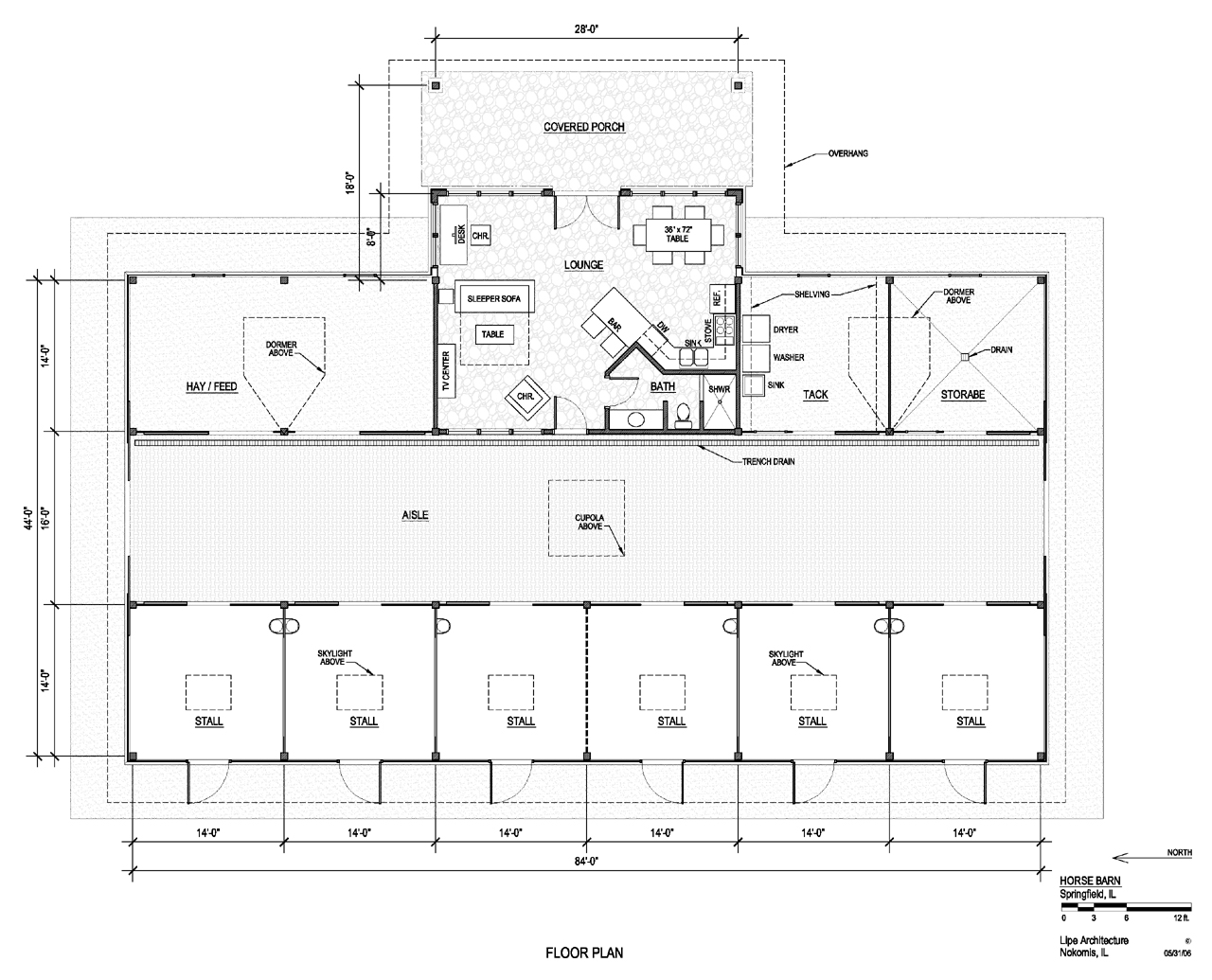 Lipe architecture for Equestrian barn plans